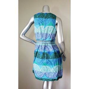 crown & ivy Dresses - Brown & Ivy Blue & Green Dress with Pockets